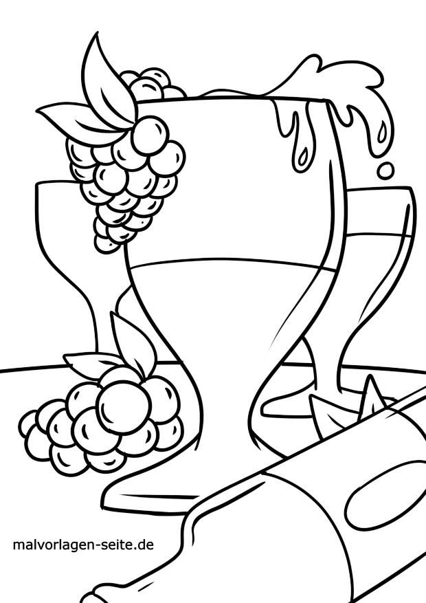Coloriage boire du vin