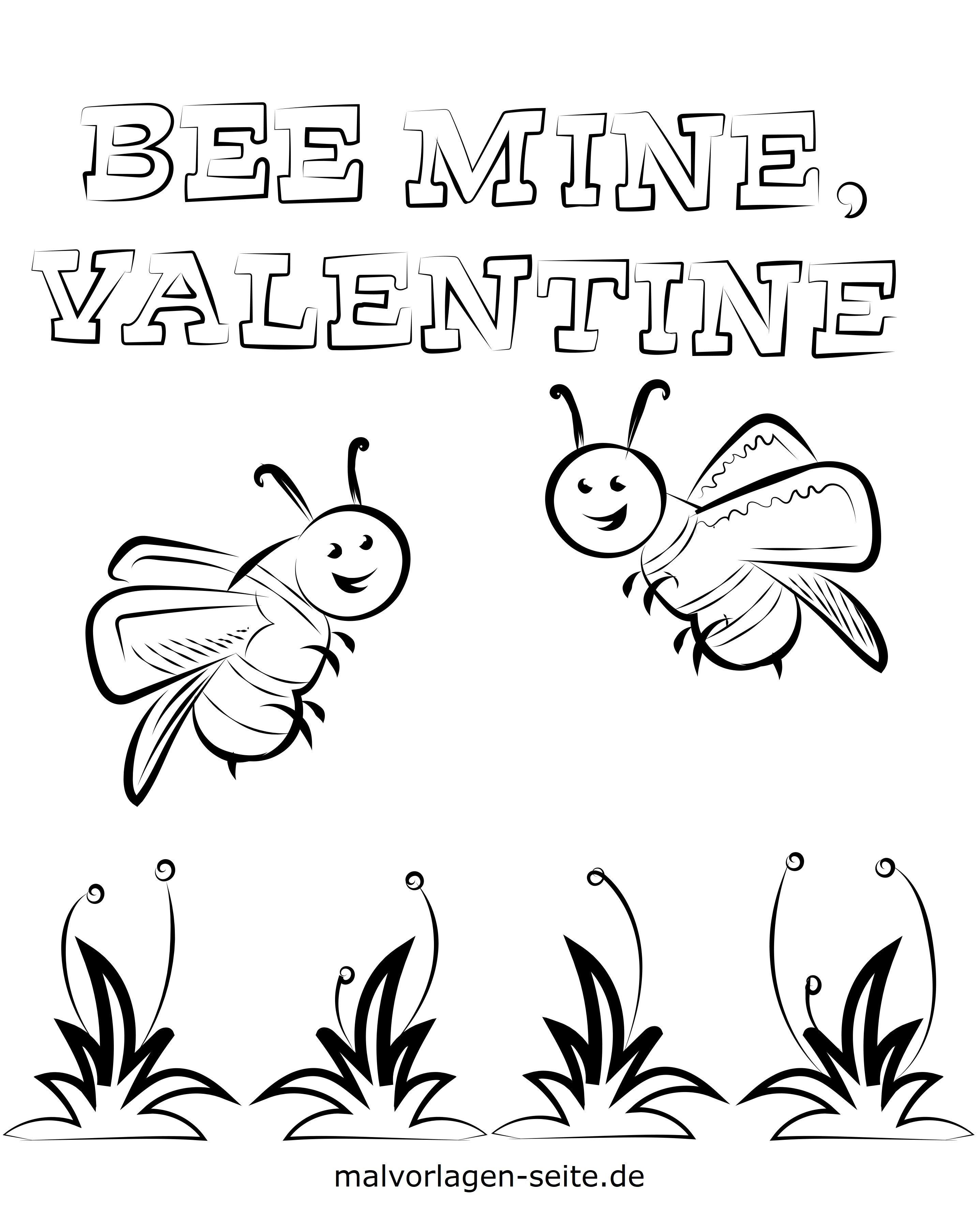 ausmalbilder valentinstag kinder  malbild