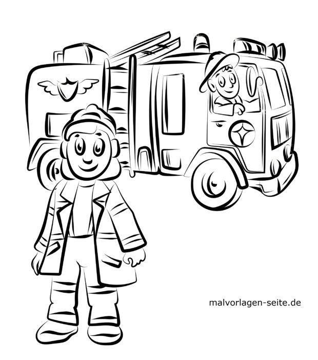 Malvorlage Feuerwehr