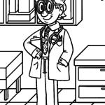 Coloring page doctor & medicine