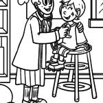 Dibujos para colorear médico