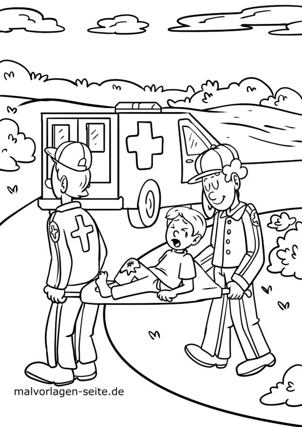 Ambulance ambulance tegninger til farvelægning