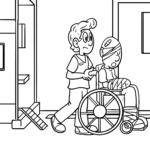 Dibujos para colorear médico enfermera
