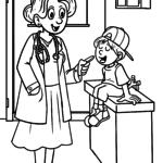 Dibujos para colorear doctora doctora