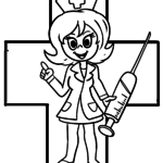 Malvorlage Arzt Spritze