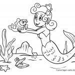 Գունազարդման էջը mermaids