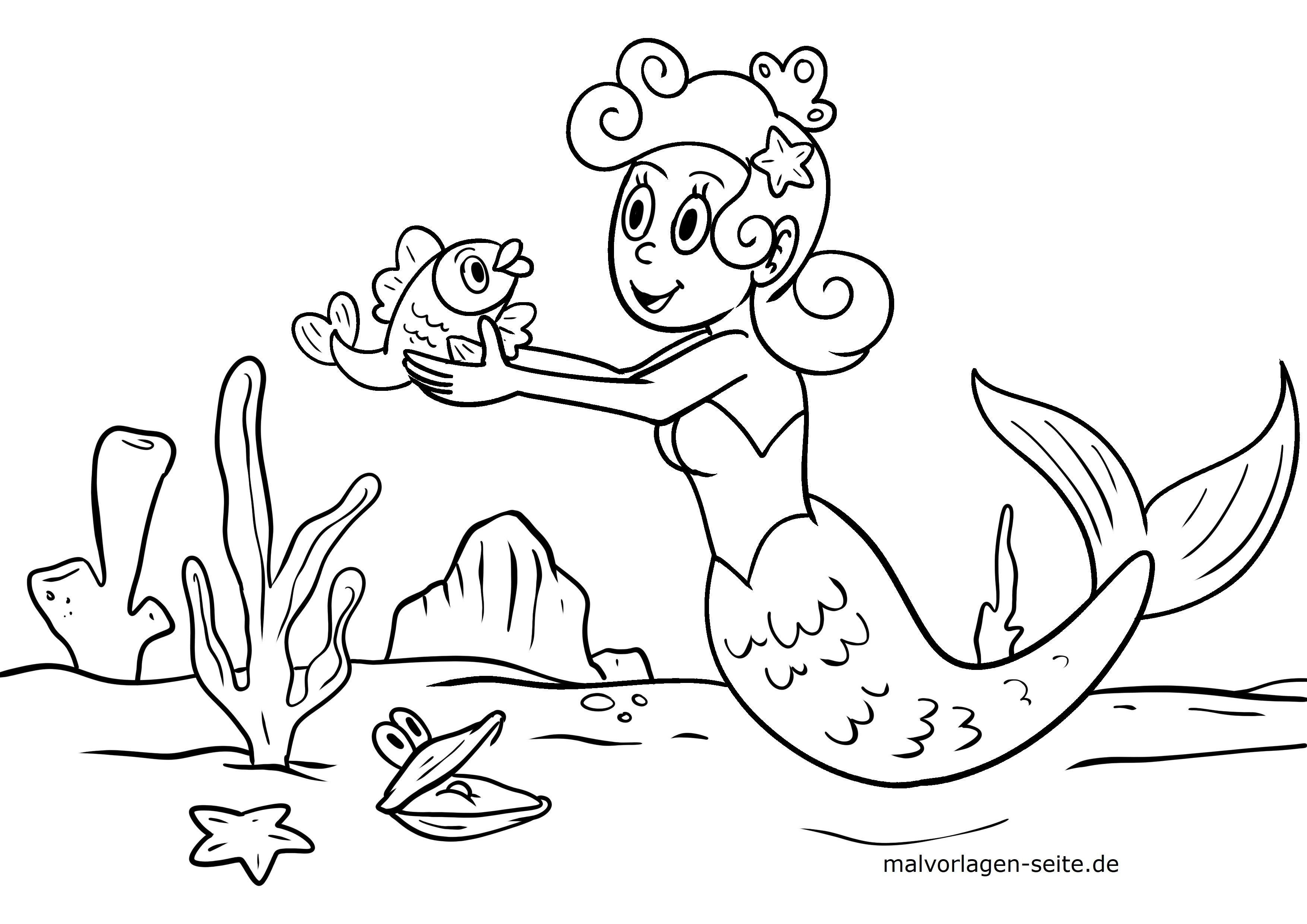 Malvorlagen Meerjungfrauen Kostenlos Herunterladen