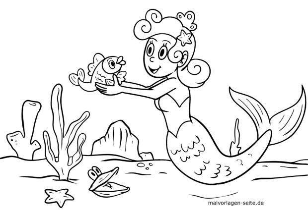 ʻO ke kaikamahine mermaid a me ka iʻa