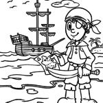 Dibujos para colorear piratas