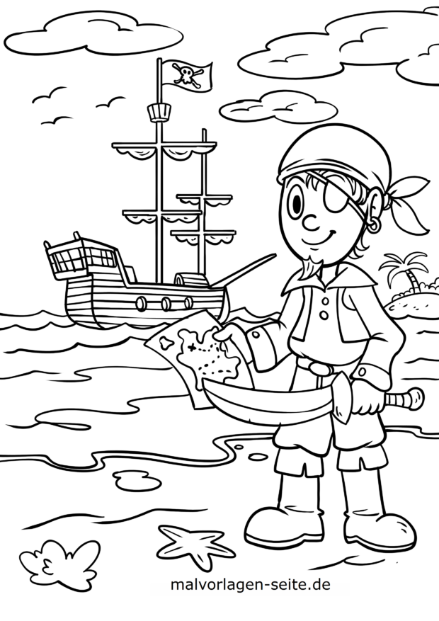 Coloriage Pirate Coloriages Gratuits