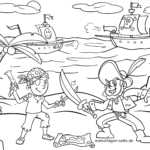 Coloring page pirate / pirate