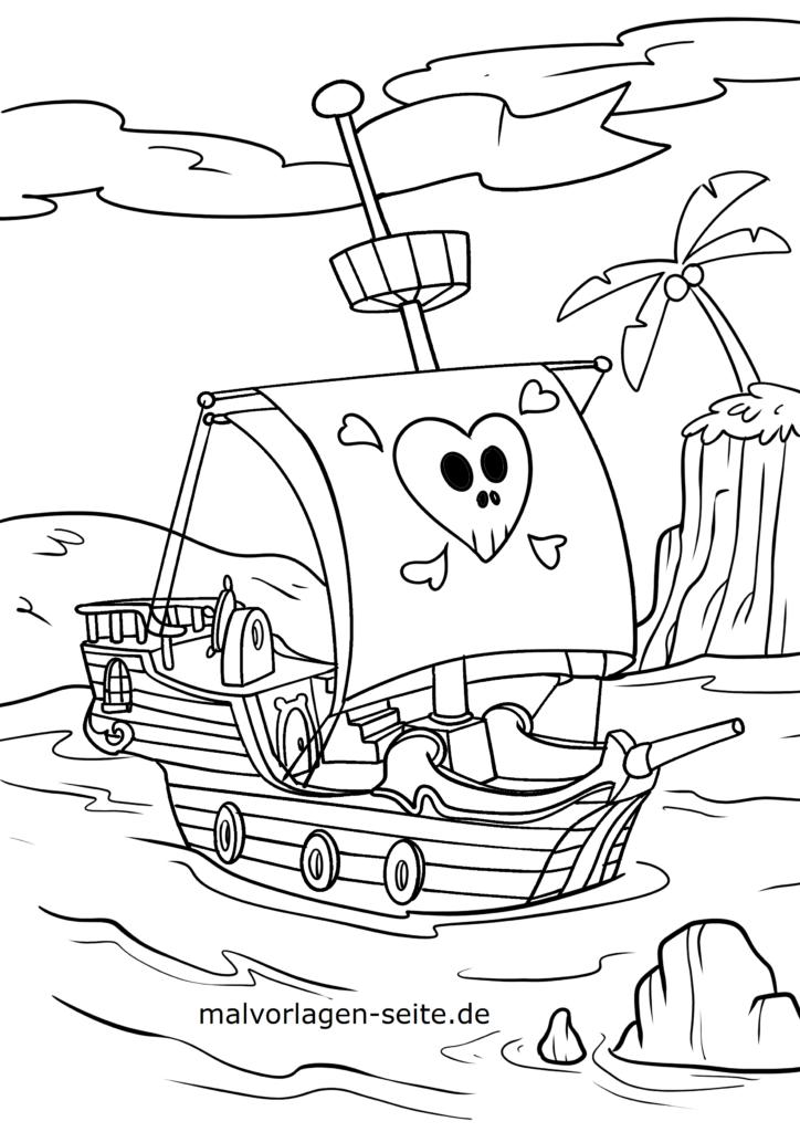 malvorlage piraten  kostenlose ausmalbilder