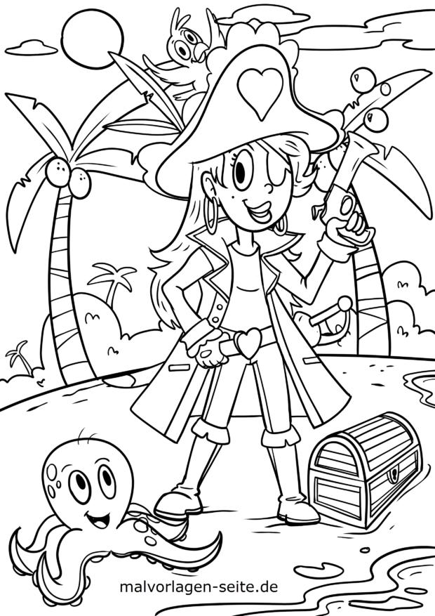Malvorlage Piratin