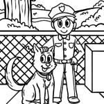 Dibujos para colorear policía - dibujos para colorear gratis