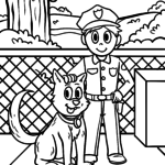 Coloriage police