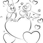 Coloring page Valentine's Day | public holidays