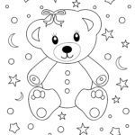 Coloring page little kids - bear