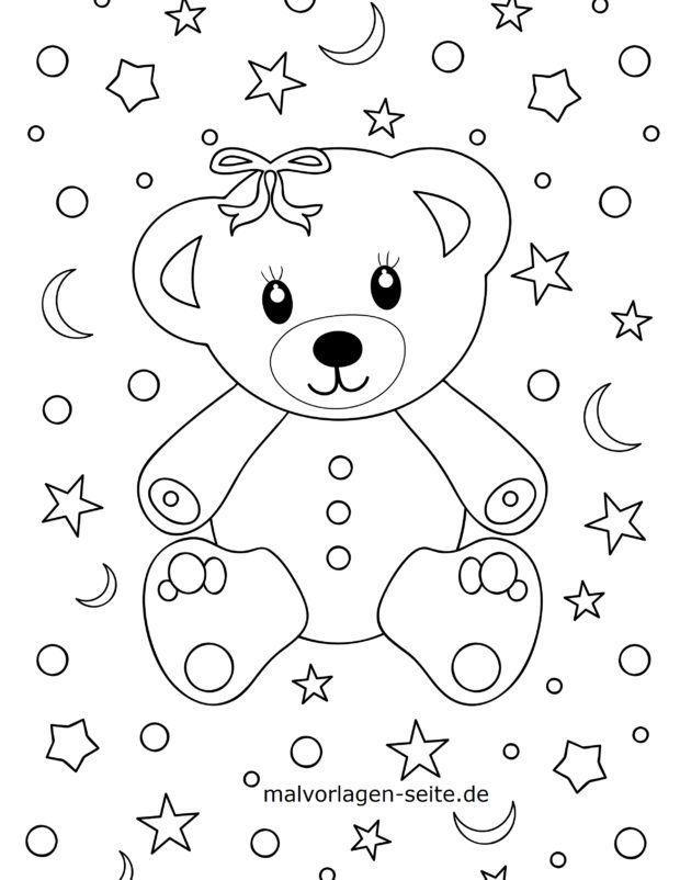 Malvorlage für kleine Kinder - Bär