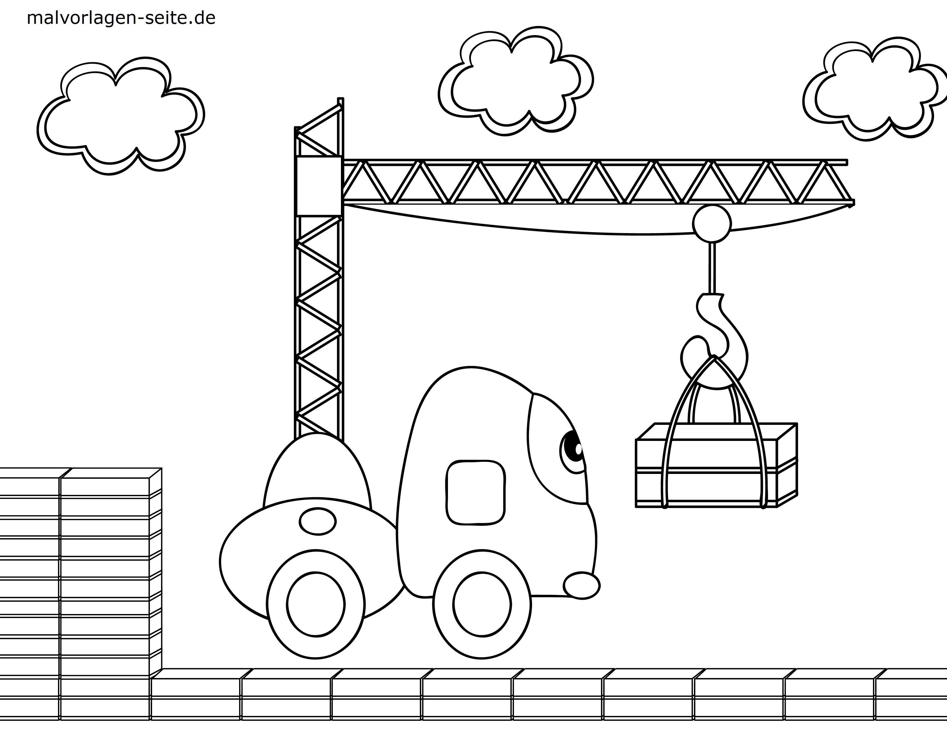 Malvorlage Kleine Kinder Baustelle