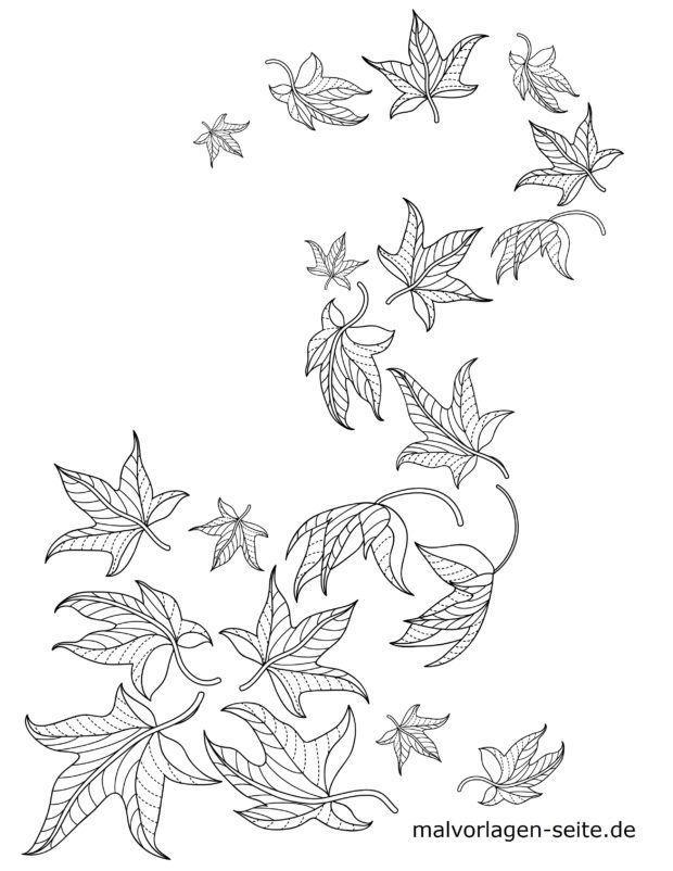 Malvorlage Blätter / Laub