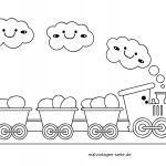 Malen für kleine Kinder - Eisenbahn zum Ausmalen