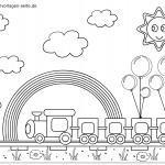 Malvorlage Eisenbahn für kleine Kinder zum Ausmalen
