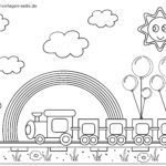 Coloring page little kids - railroad