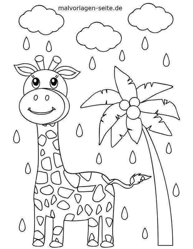 Bojanka za malu djecu - žirafa