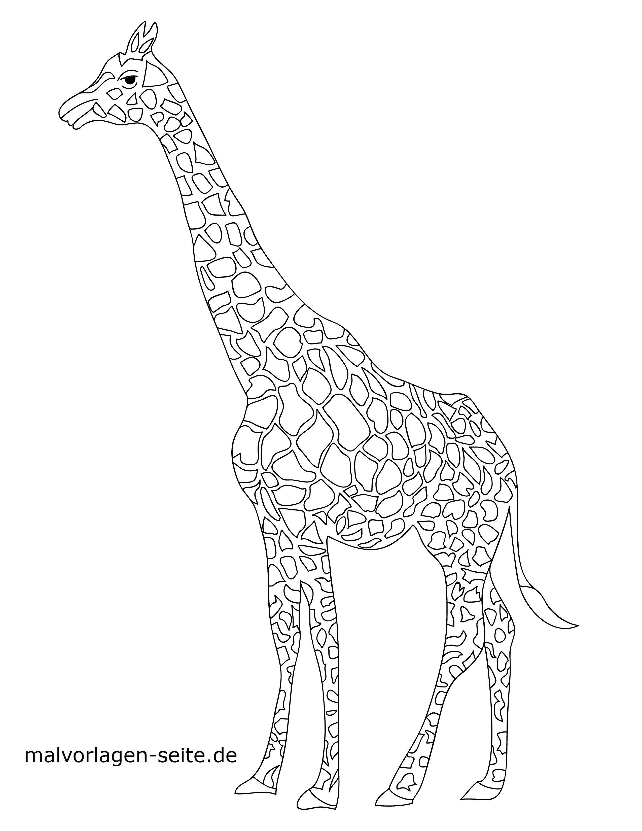 Malvorlage Giraffe Tiere