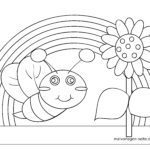 Coloring page little kids - beetle