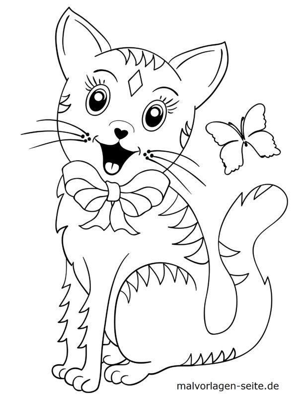 Malvorlage für kleine Kinder - Katze