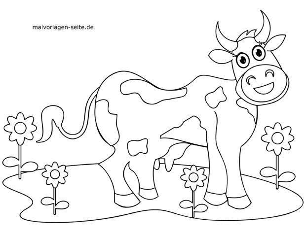 Malvorlage für kleine Kinder - Kuh