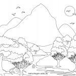 Coloring pictures Landscapes
