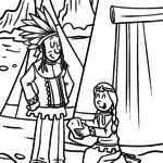 Coloring page Indians for coloring for children