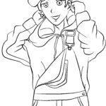 Malvorlage Manga Junge
