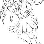 Barvanje stran manga risani lik