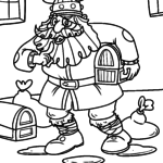 Coloring page Viking treasure