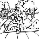 Kleurskool skool - skoolbus