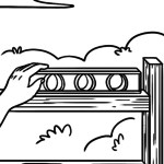 Coloring page tool - spirit level
