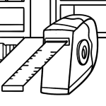 Coloring page tool - tape measure