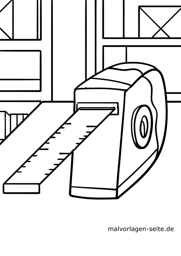 Malvorlage Werkzeug - Maßband