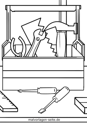 Tool box and tools for coloring