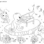 Coloring page under water | animals
