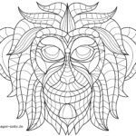 Coloring page animal mandala monkey | Mandala