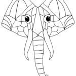 Coloring page animal mandala elephant Animals mandala