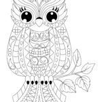 Coloring page animal mandala owl | Animals Mandala