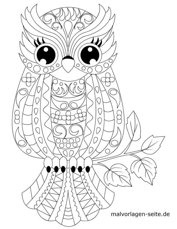 Mosaic Coloring page owl