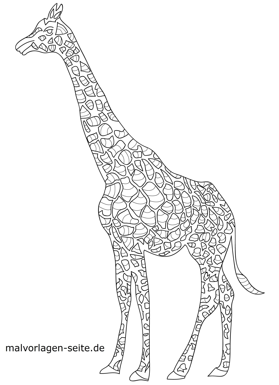 Malvorlage Mosaik Giraffe