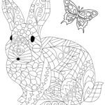 Pagine di culore animale mandala rabbit | Animali mandala