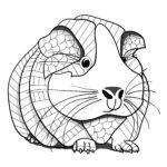 Malvorlage Tiermandala Meerschweinchen | Tiere Mandalas